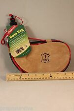 1 LITER BOTA BAG FINE GOATSKIN LEATHER THICK POLY LINED BRAIDED STRAP FROM SPAIN
