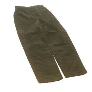 FENDI Corduroy Trousers Pants Black Auth ar3950