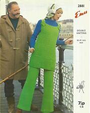 VINTAGE KNITTING PATTERN TUNIC DRESS & TROUSERS