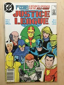 Justice League #1 (DC 1987) 1st Maxwell Lord Classic Maguire Cover VF- B&B