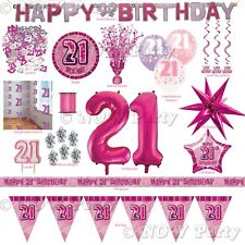 Pink Girl Milestone Special 21st Age 21 Birthday Party Supplies Decorations