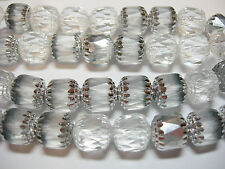 20 Crystal and Silver Cathedral Czech Glass 10mm beads