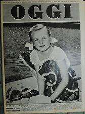 OGGI N°13/ 30/MAR/1950 * CONTESA IN TRIBUNALE LA FIGLIA DI INGRID BERGMAN *