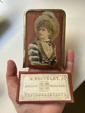 More details for victorian w whiteley westbourne grove christmas souvenir needle case + sleeve