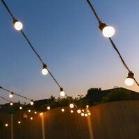 5-50m Outdoor Connectable LED Festoon Lights | Globe Bulbs Party Plug Garden
