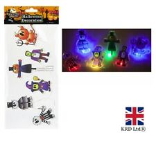 Halloween LIGHT UP GEL WINDOW STICKERS Decoration Scary Party Decals 976138 UK