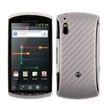 Skinomi Carbon Fiber Silver Cover+Screen Guard for Sony Ericsson Xperia Play 4G