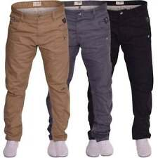 Crosshatch Cotton Mid Rise Tapered Jeans for Men