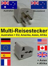 Multi - Reiseadapter / Reisestecker / Steckdose für Australien & Neuseeland