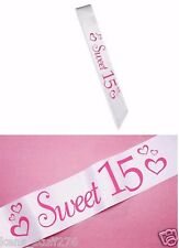 "Ms. Quince Sash, Party Attire, Birthday Celebration, Quinceanera - ""Sweet 15"""