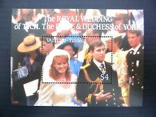 TUVALU Vaitupu Wholesale 1986 Royal Wedding M/Sheet x 100 U/M SALE PRICE FP1209