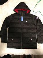 Nautica Mens Size Medium Black Water Resistant Coat. Brand New