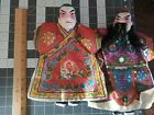 2 Vintage Japanese Asian Robed Hand Puppets Collectors Toys