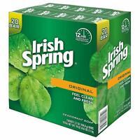 Irish Spring Deodorant Soap Original Long Lasting Invigorating Scent 20 Bars