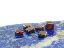 6x Granat - Scheiben in Rautenform, 2x5 mm, rot /1330s