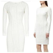 Reiss Neo White Bandage Bodycon Party Holiday Dress Size 14 UK With Tag