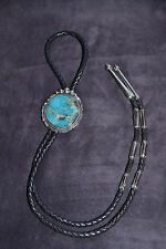 Handmade Sterling Silver and Turquoise Bolo Tie/Women's Choker Necklace
