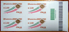2011 Italia  Quartina posta ordinaria  2,00 € codice a  barre 1225