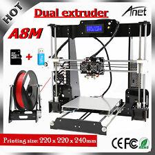 100% Genuine Anet A8M Printer DIY i3 Upgradest Dual extruder 3D Desktop Drucker