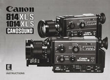 Canon 814 XL-S + 1014 XL-S Canosound - Camera - Instruction Manual - PDF File