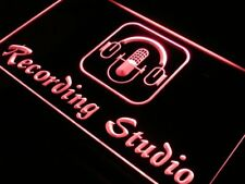 i801-r Recording Studio Microphone Bar Neon Light Sign
