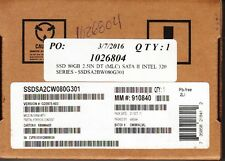 "INTEL 320 SERIES SSDSA2CW080G301 80GB 2.5"" SATA-3GB/S SSD DRIVE - NEW & SEALED!"