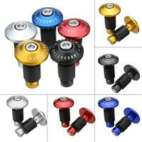 1Pair Cycling Bike Bicycle Aluminum Handlebar Grips Cap Handle Bar Caps Plug End