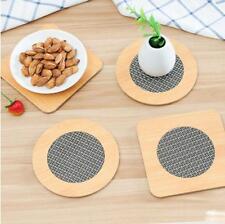 3pcs/set Bamboo Non-slip Tablemat Heat Insulation Pad Bowl Cup Mat Placemat