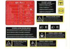 ALFA ROMEO Engine Bay Decals / Stickers - Twin Spark, V6, Busso, JTD