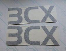 """2x JCB """"3CX"""" Vinyl Logo Decals Stickers"""