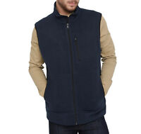 Mens Ex M&S Bodywamer Gilet Navy Warm Textured Jacket Coat Fleece Lined Gents