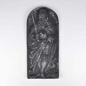 Carolus Magnus - Karl der Große - Platte - Relief - Gusseisen - Metallplatte
