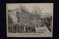 Arrivo del feretro di Re Alfonso XII di Borbone all'Escuriale Incisione del 1885