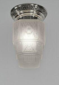 GEORGES LELEU : FRENCH 1930 ART DECO FLUSH MOUNT ...... chandelier  lamp pendant