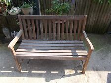 "TEAK GARDEN BENCH 47"" LENGTH OUTDOOR PATIO GARDEN FURNITURE"