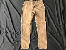 """Selected 32"""" Waist W32 Brown/Beige Chino Trousers Relaxed Fit"""