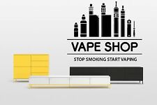 Wall Room Decor Art Vinyl Sticker Mural Decal E Cig Vape Vaping Shop Bar FI929