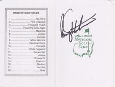 Rory Sabbatini Signed Augusta National Masters Scorecard Coa