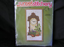 """""""A Stitch in Time"""" Embroidery Kit UNOPENED, Sunset Stitchery"""
