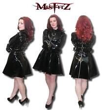 Misfitz NERA IN PVC ritenuta Camicia di Forza Skater Dress Size 8-32/MADE TO MEASURE