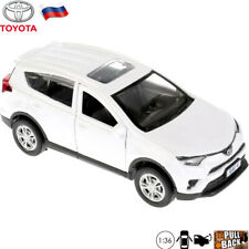 Toyota RAV4 White Diecast Car Scale 1:36 - Russian Collectible Toy Model Cars