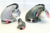 Disney Eeyore Collection of 3 Figurines Walt Disney Productions Winnie the Pooh