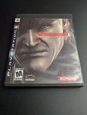 Metal Gear Solid 4 Guns of the Patriots NFR Playstation 3 PS3 LN perf COMPLETE-