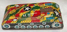Army Tank M-57 Military Camo Tin Friction Ichimura Japan 1960's Vintage Toy Game