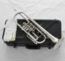 Professional JINBAO Rotary Valves Trumpet Silver Nickel Plated B-Flat Horn New