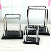 Newtons Cradle Metal Balance Balls Physics Science Pendulum Desk Decor Kids Toy