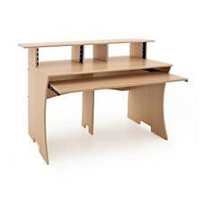 More details for 3 tier pro audio studio desk by gear4music 8u natural