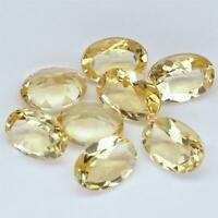 Wholesale Lot 7x5mm Oval Facet Natural Citrine Loose Calibrated Gemstone Brazil