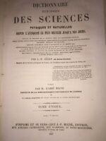 Dictionnaire historique des sciences physiques et naturelles par Jéhan   1857