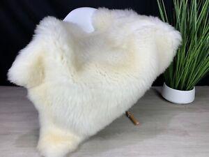 XXL Sheepskin Rug Pelt / Genuine Sheepskin Creamy White Throw Real Natural